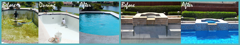 Remodeled Pools - Before & After